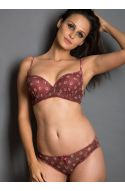 Seduct Senora Glazed Brown Floral Romance Padded Underwired Bra With Hipster Brief