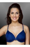 Seduct Vintage Shimmer Navy Full Perfect Coverage Minimiser Wired Bra